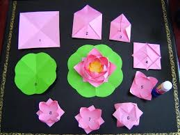 Paper Napkin Folding Flower Lotus Blossom Napkin Fold