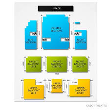 The Cabot Theater Seating Chart Cabot Theatre Theatre Theater Tickets Theater Seating