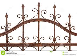 Wrought Iron Color Rusted Wrought Iron Fence Royalty Free Stock Images Image 34953259