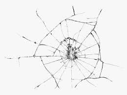 broken glass transpa background