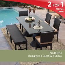 saturn rectangle kit 4c1b c wheat patio dining table set