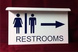 restroom directional sign. Image Is Loading Men-Women-Restroom-Directional -Arrow-Aluminum-Ceiling-Mount- Restroom Directional Sign