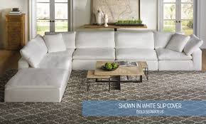 luxe slipcovered sectional sofa  haynes furniture virginia's