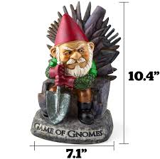com big mouth inc game of gnomes garden gnome comical garden gnome hand painted weatherproof ceramic lawn gnome makes a great gift