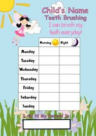 Teeth Cleaning Sticker Chart Reusable Tooth Teeth Brushing Timer Reward Chart Free