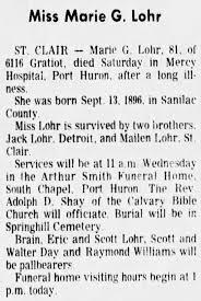 Obituary: Greta Marie Lohr - Newspapers.com