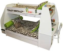 beds with desks on top. Contemporary Top This Sleek Curvy White Bunk Bed Features An Abundance Of Storage Options  With Top In Beds With Desks On Top L