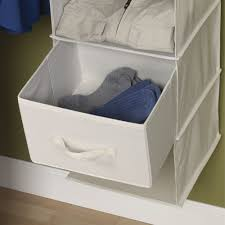 household essentials 311306 set of 2 drawers for hanging shelf closet organizers natural canvas fabric