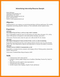 Good Objective For Internship Resume Advertising Internship Resume Digital Marketing Intern How To Write 13