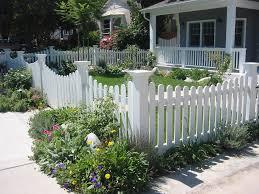 white fence ideas. Image Of: Front Yard Fence Ideas Cottage White O