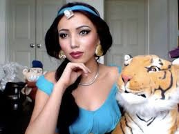here s promise as jasmine from aladdin plete with apu and rajah promise says that she has never been professionally trained as a makeup artist