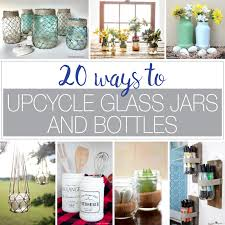 Ways To Decorate Glass Jars 100 Ways To Upcycle Glass Jars Bottles A Houseful Of Handmade 18