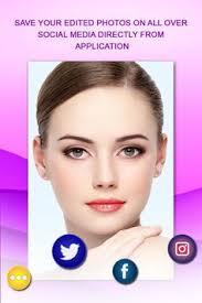 beauty face makeup editor faceretouch apk screenshot
