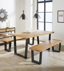 furniture industrial style. Aloha Light Oak Dining Table - Industrial Style Solid Wood And Metal Furniture