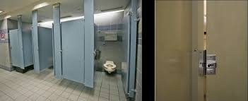 Bathroom Stall Partitions Cool Usa Why Do Public Toilets In The US Have Large Gaps No Privacy