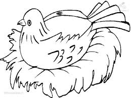 Small Picture bird to color Animals Birds Nesting Bird Coloring Page