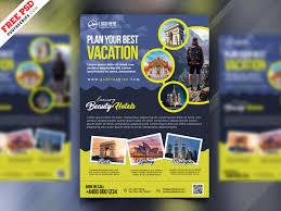Travel Agency Advertisement Flyer Psd Psdfreebies Com