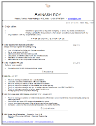 Format Of Latest Cv For Freshers Professional Resume Templates