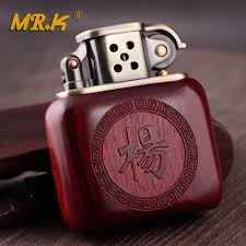 personalized custom old nine door en blood sandalwood kerosene lighter material hollowed embossed creative wind gifts