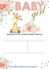 how to word a baby shower invitation 039 free baby shower invitation template giraffe fascinating