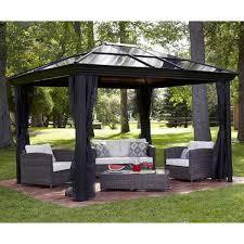 Gazebo Canopy. Pergola. This 10 x 12 Hardtop Gazebo Tent Has A Metal Gazebo