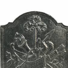 cast iron fireback. 18th Century Cast Iron Fireback C