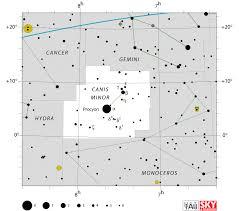 Canis Minor Facts Myth Star Map Major Stars Deep Sky