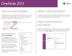 Onenote Templates 2013 Onenote 2013 Quick Start Guide