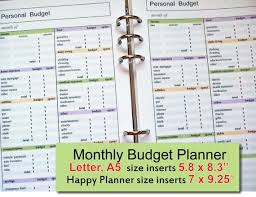 Monthly Budget Planning Monthly Budget Sheet 2019 Budget Planner Budget Planner Template Budget Planning Sheets Happy Planner Budget Insert Instant Download