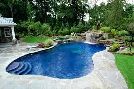 Inground Pools Waterfalls Pools With Waterfalls Swimming Pool Rock