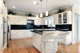 white kitchen cabinets with black countertops. Backsplash With White Cabinets Kitchen Black Countertop What Color . Countertops