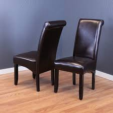 monsoon milan dark brown faux leather dining chairs set of 2