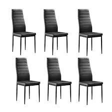 Zimtown <b>6 Pcs</b> Modern <b>Dining Chairs</b> Dining Room Black - Walmart ...