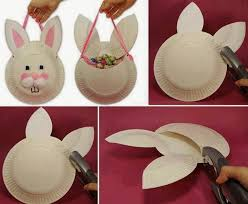 diy paper plate bunny mask