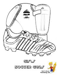 Small Picture Coloring Page to Print Soccer Gear Soccer Ball Soccer Shoe Shin