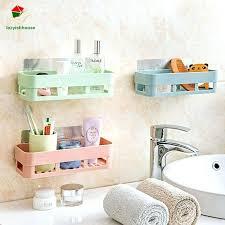 plastic bathroom shelf adhesive decorative wall shelves sticky holder remote control mounted affiliate white