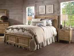 Maple Bedroom Furniture Homecoming Solid Wood Panel Bedroom Set In Vintage Pine