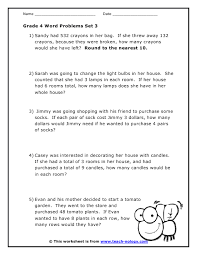 math problem solving worksheets for grade 4 download them and try to solve