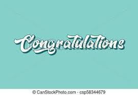 Word For Congratulations Congratulations Hand Written Word Text For Typography Design