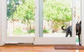 sliding door into a smart pet entrance
