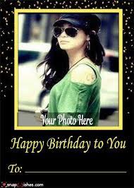 happy birthday wishes photo frames