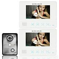 cheap video door phone systems online video door phone systems ennio7 7 inch tft touch screen color lcd video door phone wired video intercom 2 monitor