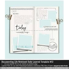 Notebook Templates Documenting Life Notebook Daily Layered Template No 02