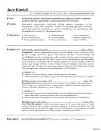 Medical Receptionist Job Description Resume Resumes Examples For Receptionist Resume Secretary Medical 42