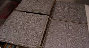 Armstrong Decorative Ceiling Tiles Create Faux Tin Ceilings with Armstrong Ceiling Tiles in Metallic 32