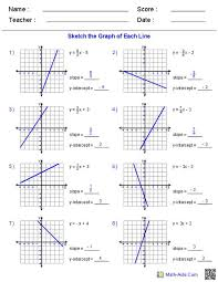writing linear equations from graphs worksheet awesome slope intercept form worksheet answer key kidz activities