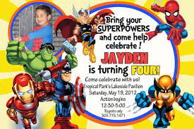 superheroes party invites marvel superheroes squad birthday party ideas photo 7 of 8