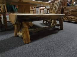 log rustic furniture amish. Amish Rustic Pine Half Log Bench Furniture