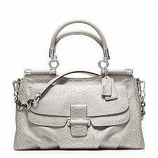 COACH f23433 MADISON PINNACLE EMBOSSED METALLIC PYTHON CARRIE