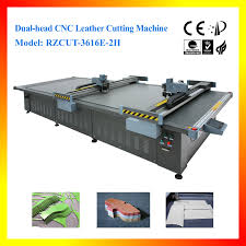 dual head cnc leather cutting machine for leather goods